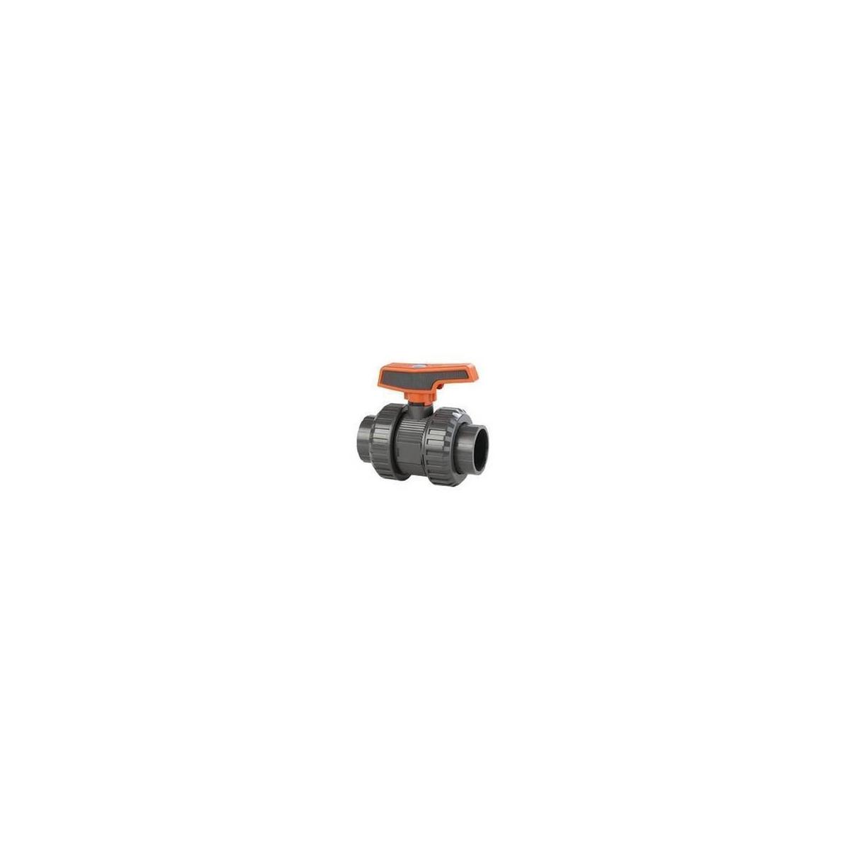 PVC-U [STD] BALL VALVE (PE-EPDM) BSP female thread
