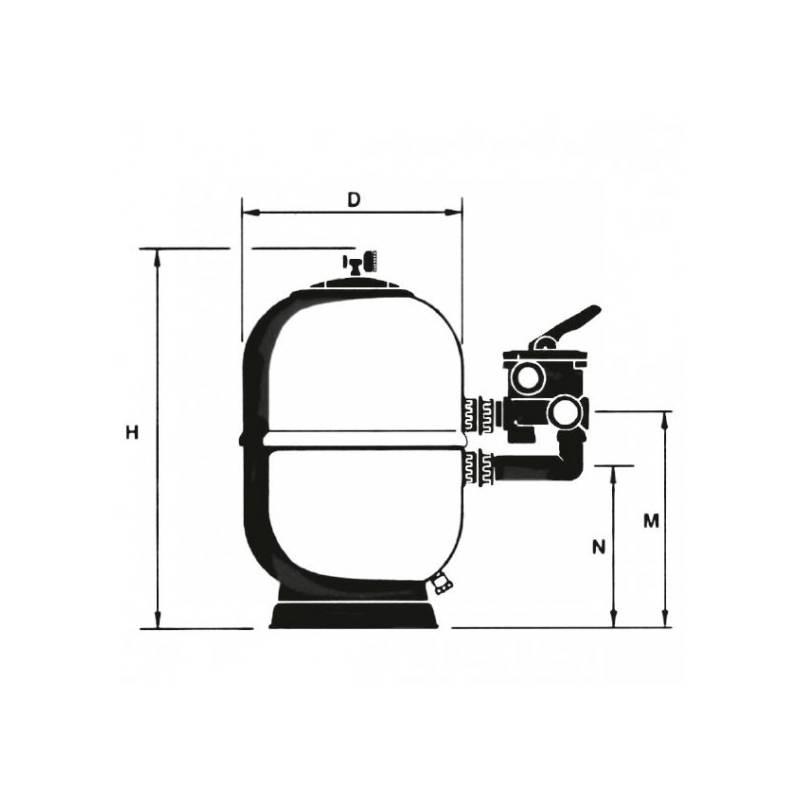 Filtro aster astralpool filtros laminados 00497 - Depuradora piscina precio ...