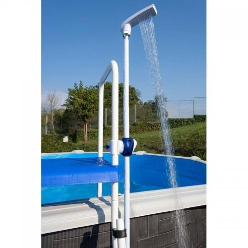 Ducha fijación a escalera piscina desmontable Gre