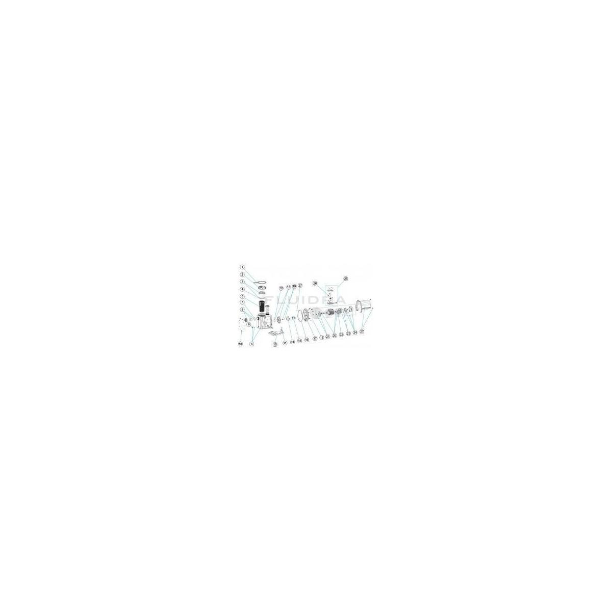 Recambio CJTO. VENTILADOR-TAPA 0,75 - 1 HP