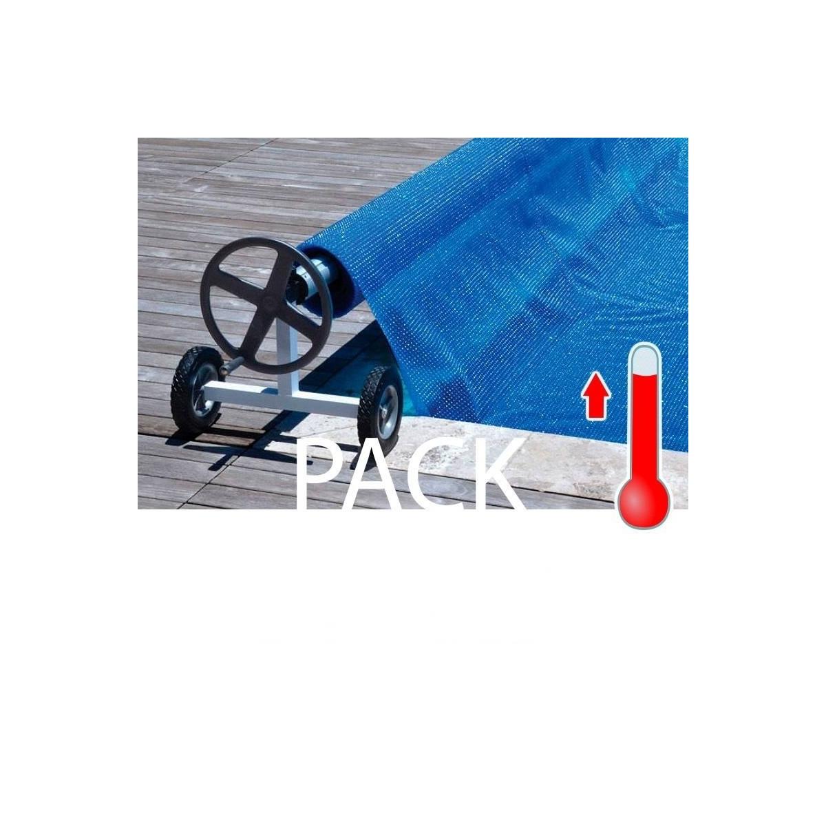 Pack manta térmica + enrollador piscinas