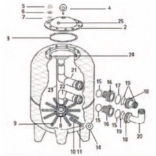 Repuesto manómetro Coral