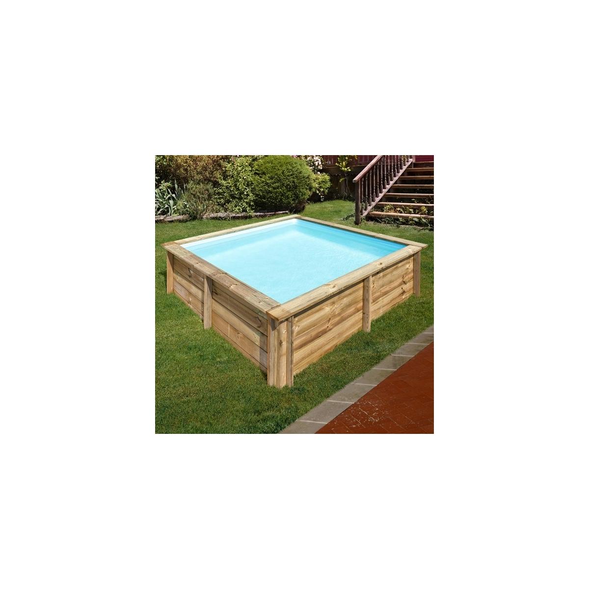 Piscina desmontable de madera Gre Sunbay City cuadrada 225x225x68