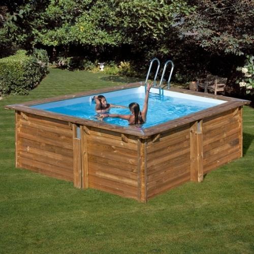Piscina desmontable de madera Gre Sunbay Carra cuadrada 305x305x119