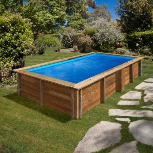 Piscina desmontable de madera Gre Sunbay Lemon rectangular 375x200x68