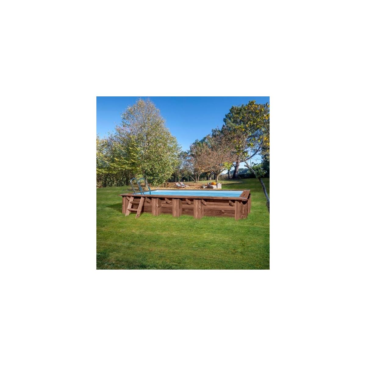 Piscina desmontable de madera Gre Sunbay Mango rectangular 618x320x130