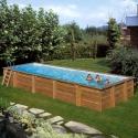 Piscina desmontable de madera Gre Sunbay Mint rectangular 1013x418x146