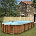 Piscina desmontable de madera Gre Sunbay Sevilla ovalada 852x455x146