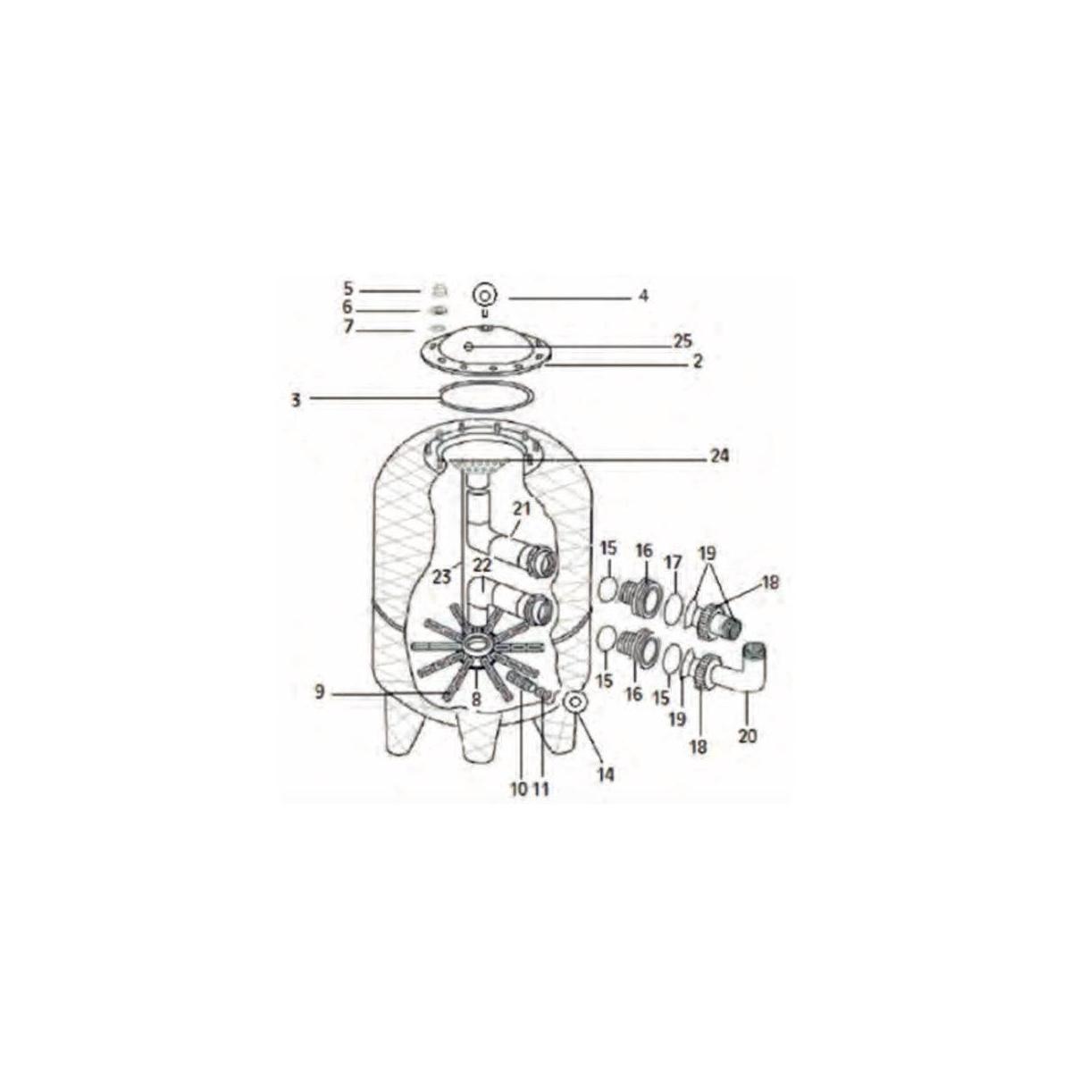 DIFUSOR SUPERIOR F.400/500/600/650 CORAL