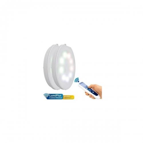 Lampara LumiPlus RGB Wireless AC 2 Luces + 1 Mando