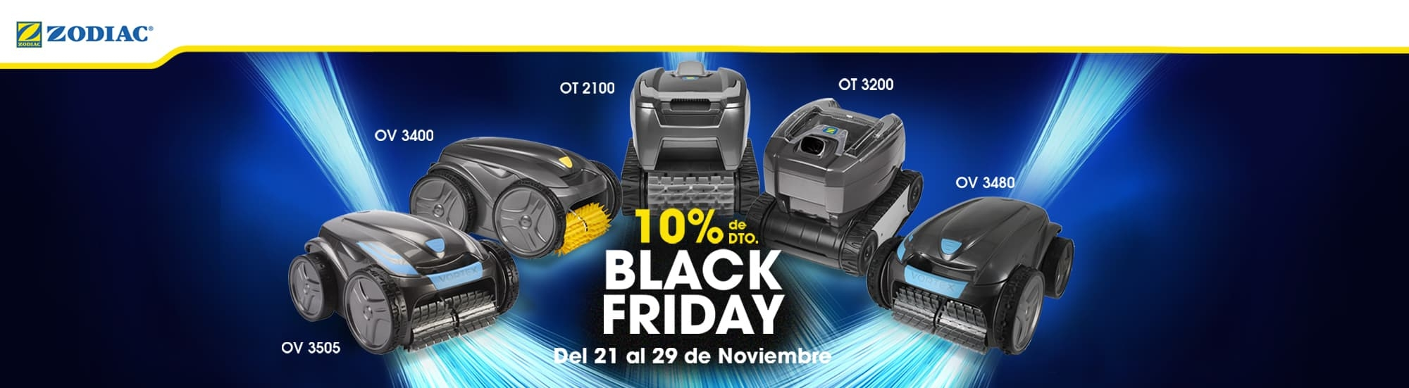10% of discount in pool cleaners selected BLACK FRIDAY